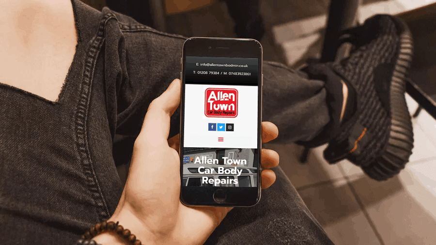 Website Case Study – Allen Town Bodmin