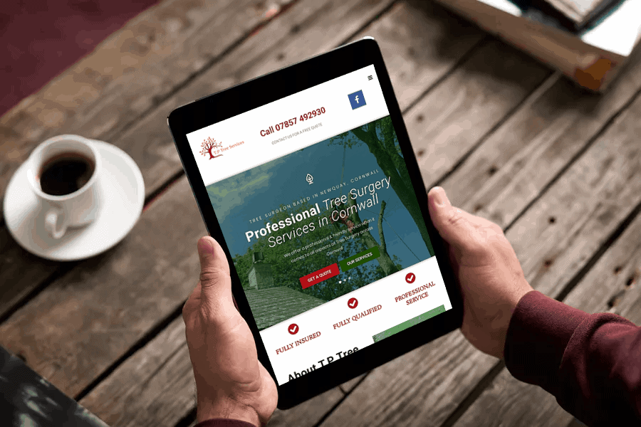 TP Tree Services - Tablet Responsive Website