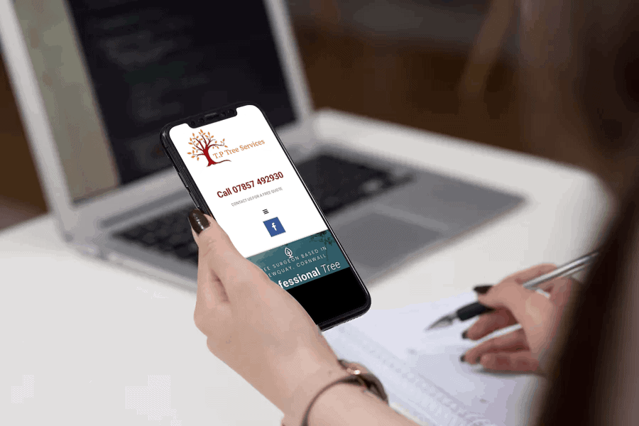 TP Tree Services Smart Phone Website